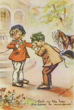 Tout va très bien, madame la marquise ! Vintage Book Art, Images Vintage, Vintage Paper Dolls, Art And Illustration, Vintage Children, Vintage Postcards, Drawings, Grisaille, Marquise