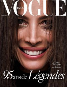 Christy Turlington on Vogue Paris October 2015 cover by Inez & Vinoodh