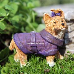 Miniature Garden Princess the Puppy Dog  /Fairy Faerie Gnome Hobbit Dollhouse #WSF