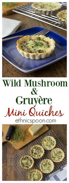 Wild mushroom quiche