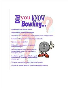 Bowling is fun and good for you