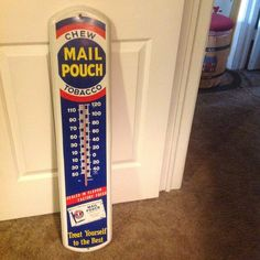 Old Mail Pouch Thermometer Tobacco Advertising PRISTINE!