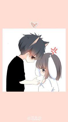 An love ctrd Cute Chibi Couple, Cute Couple Cartoon, Anime Love Couple, Anime Couples Drawings, Anime Couples Manga, Cute Anime Couples, Images Kawaii, Cute Anime Chibi, Anime Best Friends