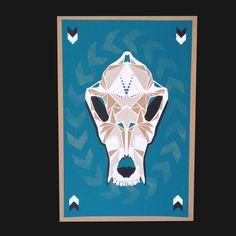 Coyote Skull Print - Waltronic Press