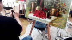 Мастер класс живописи Елены Ильичевой - CHERRY - Москва 2014