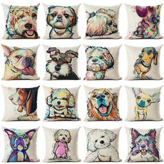37ea3af2035e1 Throw pillows - check for your favorite dog breed. Good gift. #throwpillow #