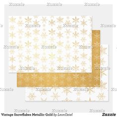 Shop Vintage Snowflakes Metallic Gold Foil Wrapping Paper Sheets created by LeonOziel. Metallic Gold, Gold Foil, Silver, Out Of The Closet, Foil Paper, Paper Crafts, Diy Crafts, Creative Gifts, Vintage Shops