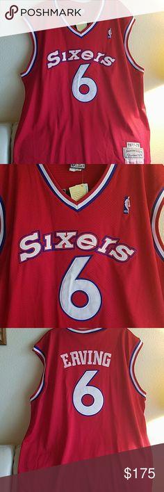Mitchell Ness76ers Julius Dr J Erving Red Jersey NWT Mitchell   Ness 76ers  Julius Erving Red Hardwood. 3xl ShirtsHardwoodBasketball JerseyNbaLogoLogosLogo  ... a413a0281