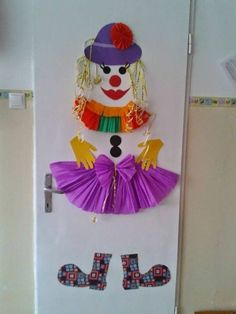 30 ideas for handicrafts with children for carnival Clown Crafts, Circus Crafts, Carnival Crafts, Hobbies And Crafts, Diy And Crafts, Crafts For Kids, Arts And Crafts, Class Decoration, Circus Theme