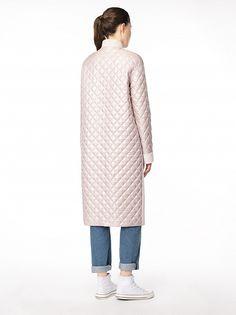 Пальто из комбинированной ткани
