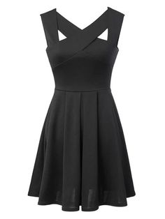 Stylist-I love little black dresses! Fit and flare is super cute, and I do like my lbd's to vary a bit so the straps on to are good.