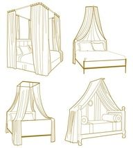 Bed canopy idea for Calle's daybeds