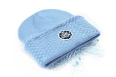 MESH BOW BEANIE (POWDER BLUE)
