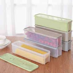 Buy Kitchen Fridge Food Storage Box, sale ends soon. Be inspired: discover affordable quality shopping on Gearbest Mobile! Kitchen Storage Hacks, Food Storage Boxes, Pantry Storage, Kitchen Gadgets, Kitchen Buffet, Fridge Organization, Corner Storage, Farmhouse Furniture, Kitchen Furniture
