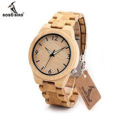 BOBO BIRD Solid Blonde Wood Men's Watch #Woodenwatchesformen