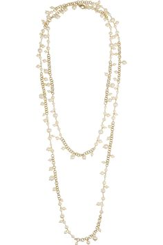 Rosantica|Chimera gold-dipped freshwater pearl necklace|NET-A-PORTER.COM