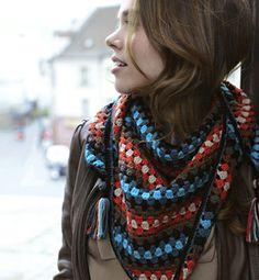 granny square shawl