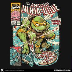 The Amazing Ninja Dude T-Shirt - TMNT T-Shirt is $11 today at Ript!