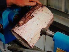 52 Turning a Spalted Timber Bowl Sideways - YouTube