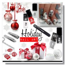 """Holiday Nail Art"" by queenvirgo ❤ liked on Polyvore featuring beauty, JINsoon, Jin Soon, MAC Cosmetics and Eve Lom"