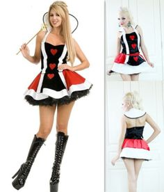 Adult Dancing party Dresses Cosplay Classic Halloween Costumes queen of hearts stage play clothes#queen of hearts halloween costumes