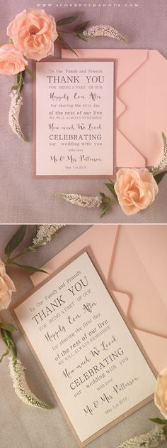 Wedding Gifts Diy Modest Romantic Wedding Thank You Card Wedding Invitation Card Wording, Cheap Wedding Invitations, Wedding Stationery, Wedding Thank You Wording, Invite, Wedding Thanks, Our Wedding, Wedding Ideas, Trendy Wedding