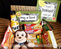 """Hang in there!"" care package."
