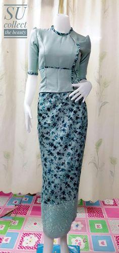 Traditional Dresses Designs, Myanmar Dress Design, Myanmar Traditional Dress, Burmese, Blouse Designs, Designer Dresses, High Waisted Skirt, Costumes, Clothes For Women
