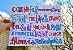 Gotta Be You by One Direction Lyric Art by daynanicolea on Etsy, $10.00