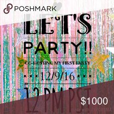 🎉YAY! Co-hosting my first Posh Party!🎉 December 9, 2016 @ 12pm!!  Theme TBA! I will be looking for host picks! Please like and share this!! 💖 Jessica Simpson Dresses