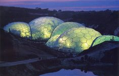 the world's largest greenhouse, the Eden project in Cornwall, UK
