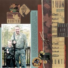 Hunting Scrapbook Layout