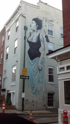 Billie Holiday mural. Baltimore.