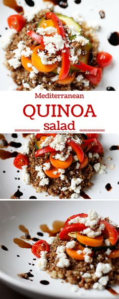 This Mediterranean Quinoa Salad recipe is healthy, easy and perfect as a side dish or a vegetarian main course.