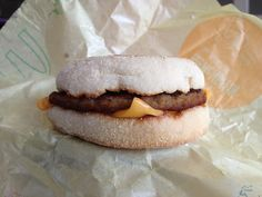 Sausage McMuffin 2013.06.09 Muffin wasn't so crispy. I like hard toasted ones.