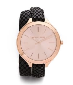 Big face, skinny strap - love this Michael Kors watch