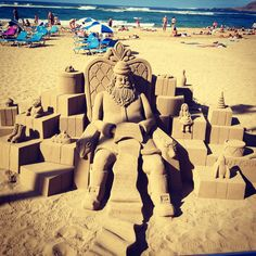 Sand art...