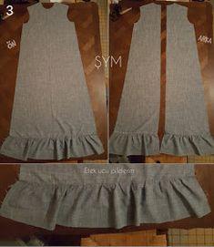 ŞymCouture: Etek ucu ve kol ucu büzgülü elbise dikimi