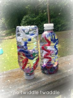 "How to Make Fireworks in a Bottle - from No Twiddle Twaddle ("",)"
