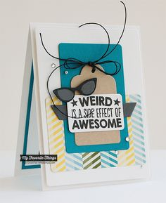 Geek Is Chic, Geek Is Chic Glasses Die-namics - Inge Groot #mftstamps