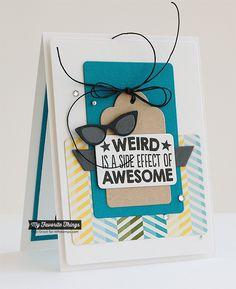 Geek Is Chic, Geek Is Chic Glasses Die-namics - Inge Groot #mftstamps