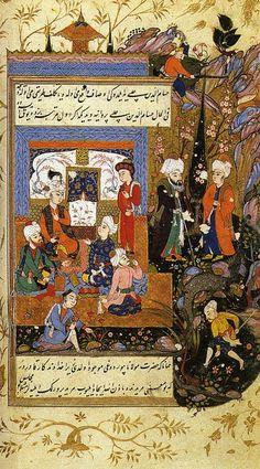 Jalal ad-Din Rumi gathers Sufi mystics