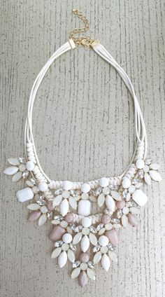 Statement necklace made up of gorgeous crystals and stones