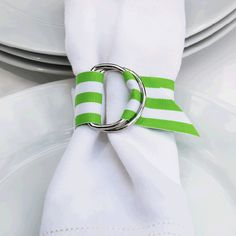 Isn't this clever and simple! grosgrain napkin ring.social couture