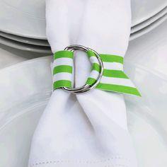 DIY Grosgrain Ribbon Napkin Ring