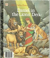 DANIEL IN THE LION'S DEN RARE 1987 HC LITTLE GOLDEN BOOK HOMESCHOOL