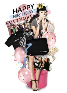 """""""Happy 9th Birthday, Polyvore!"""" by mew-muse ❤ liked on Polyvore featuring art, contestentry and happybirthdaypolyvore"""