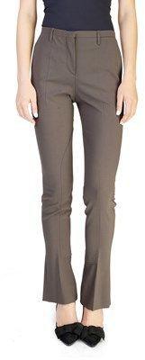 Prada Women's Polyester Wool Blend Pants Green.