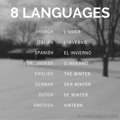 How to say winter in 8 languages