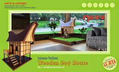Indonesian traditional wooden Dog House Rumah Adat Toraja